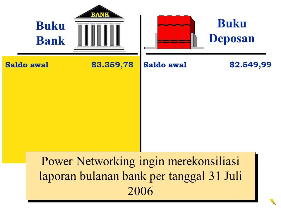 BANK Buku Deposan. Buku Bank. Saldo awal $3.359,78. Saldo awal $2.549,99.