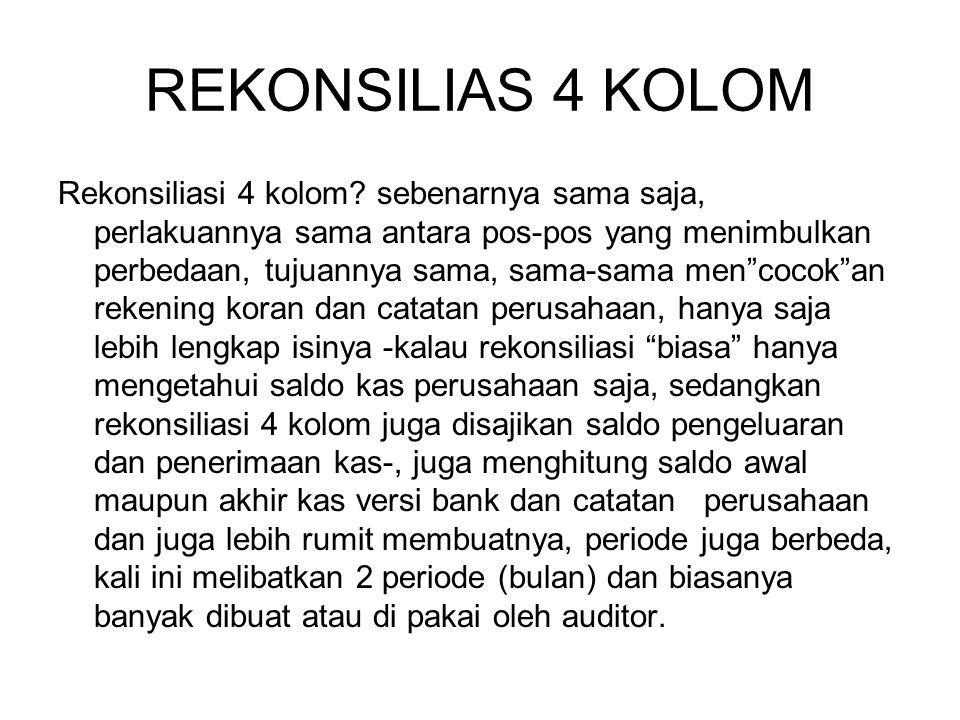 REKONSILIAS 4 KOLOM