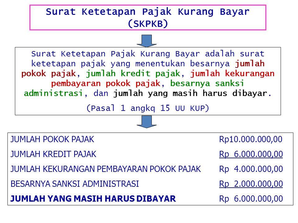 Surat Ketetapan Pajak Kurang Bayar (SKPKB)