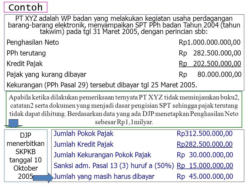 DJP menerbitkan SKPKB tanggal 10 Oktober 2005