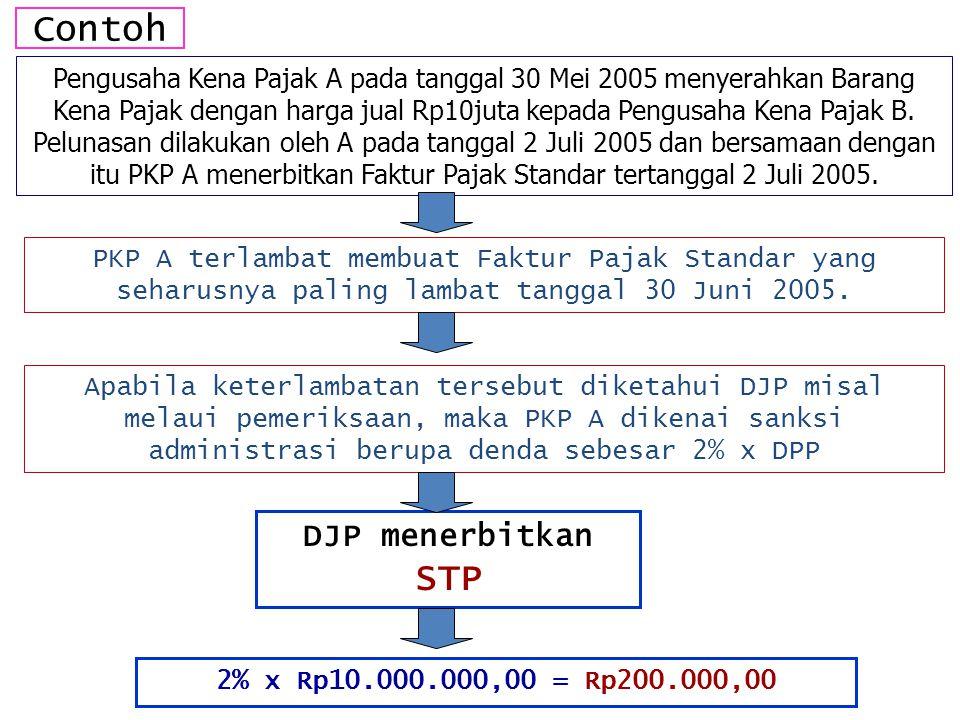 Contoh DJP menerbitkan STP