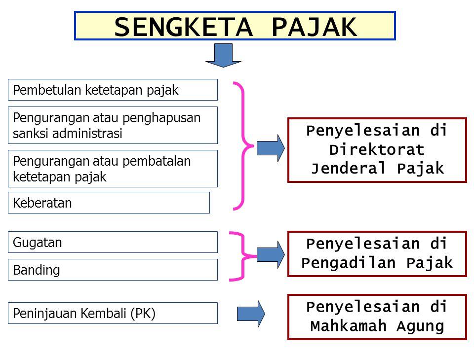 SENGKETA PAJAK Penyelesaian di Direktorat Jenderal Pajak