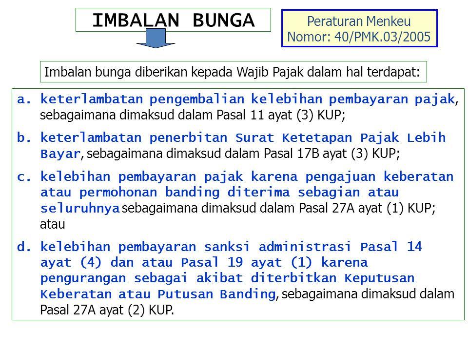 Peraturan Menkeu Nomor: 40/PMK.03/2005