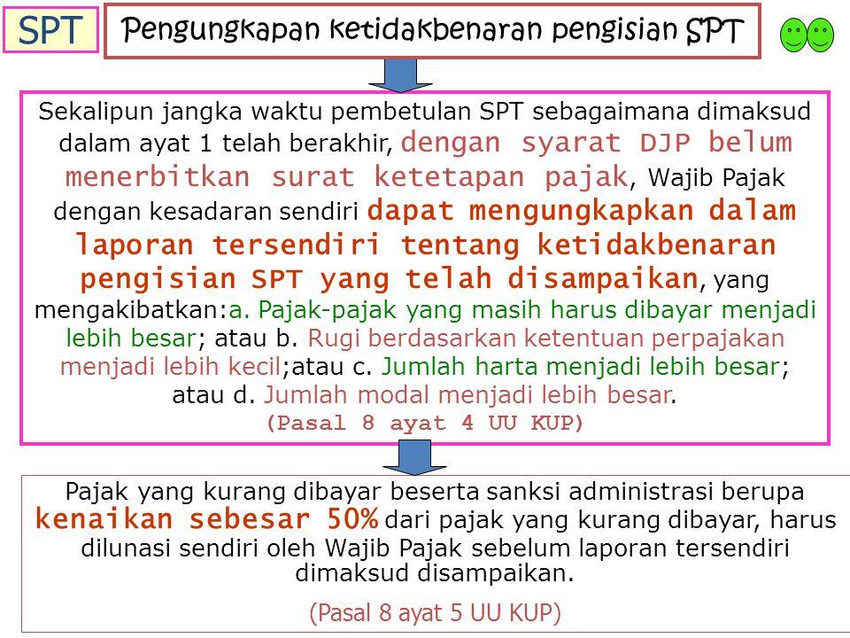 Pengungkapan ketidakbenaran pengisian SPT