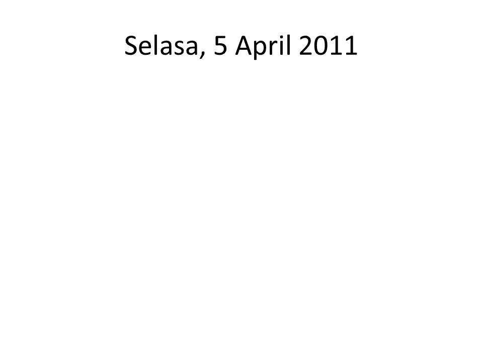 Selasa, 5 April 2011