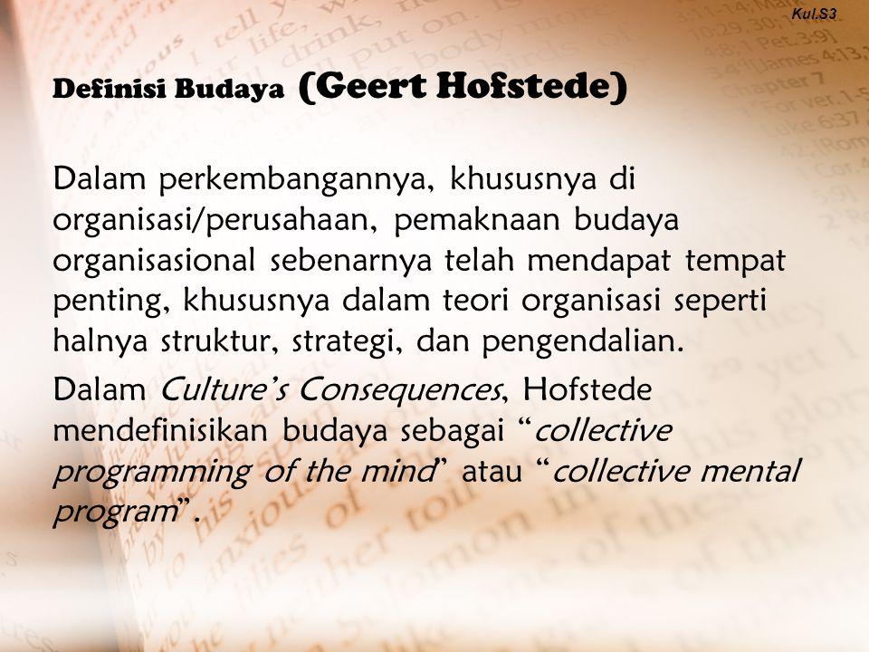 Definisi Budaya (Geert Hofstede)