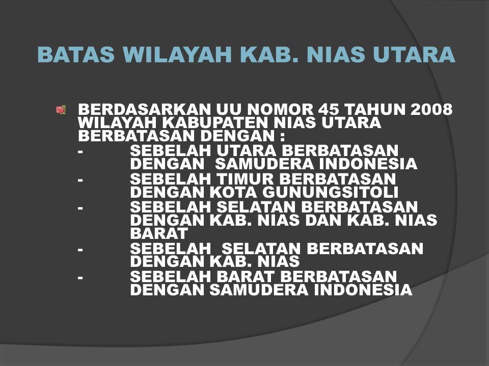 BATAS WILAYAH KAB. NIAS UTARA