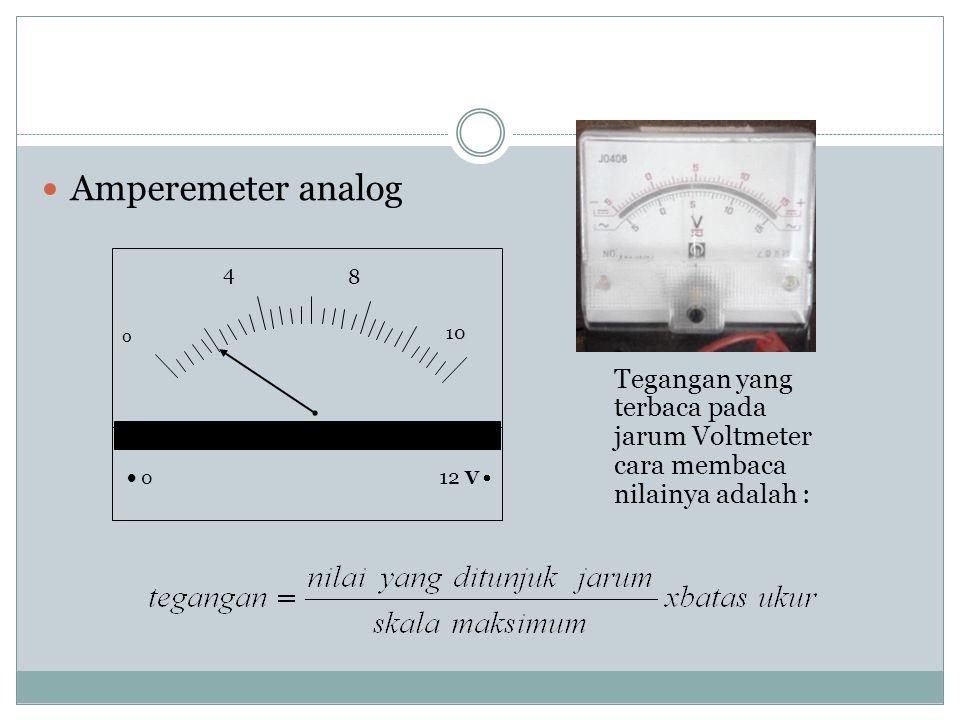 Amperemeter analog 8. 12 V   0. 10. 4.