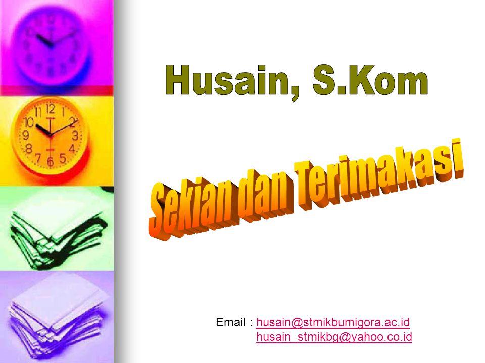 Husain, S.Kom Sekian dan Terimakasi