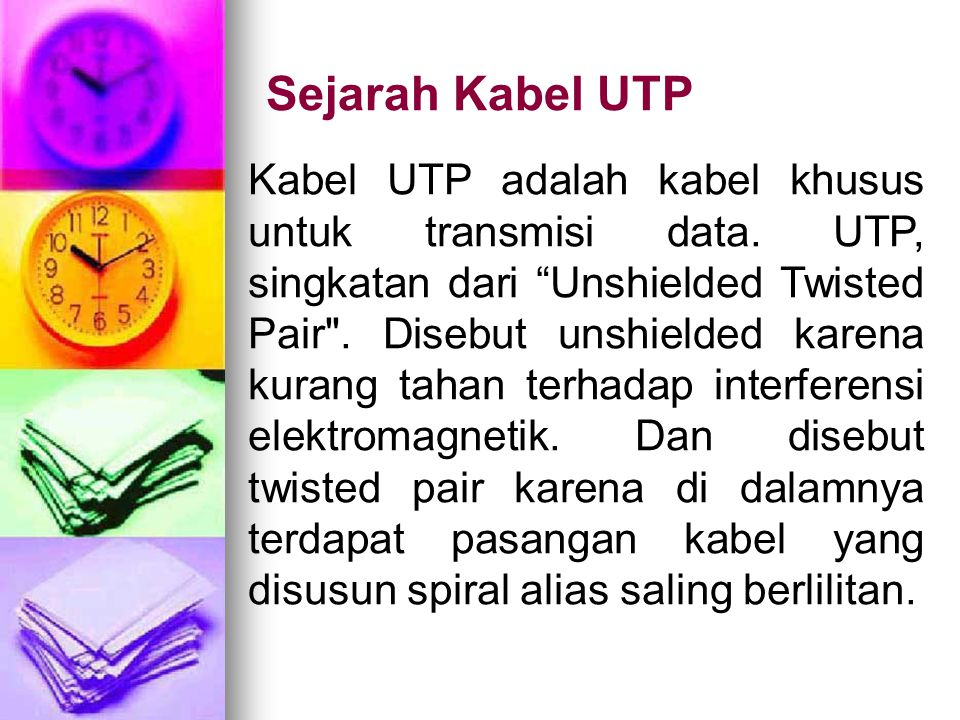 Sejarah Kabel UTP