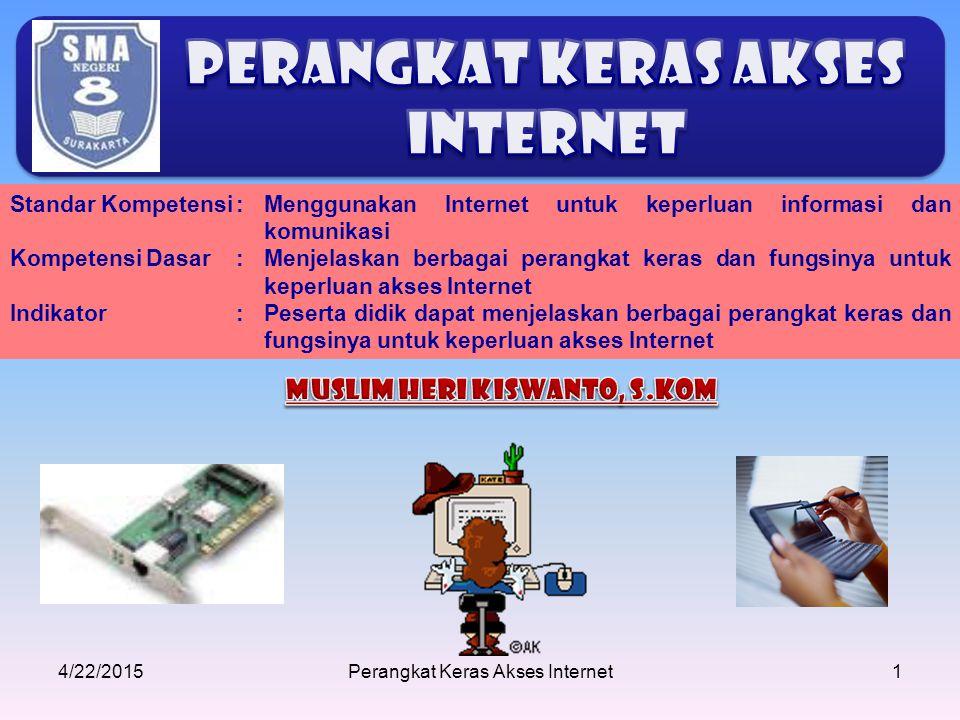 Perangkat keras Akses Internet Muslim Heri Kiswanto, S.Kom