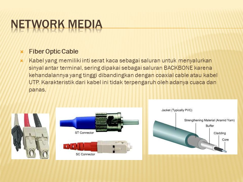 Network media Fiber Optic Cable