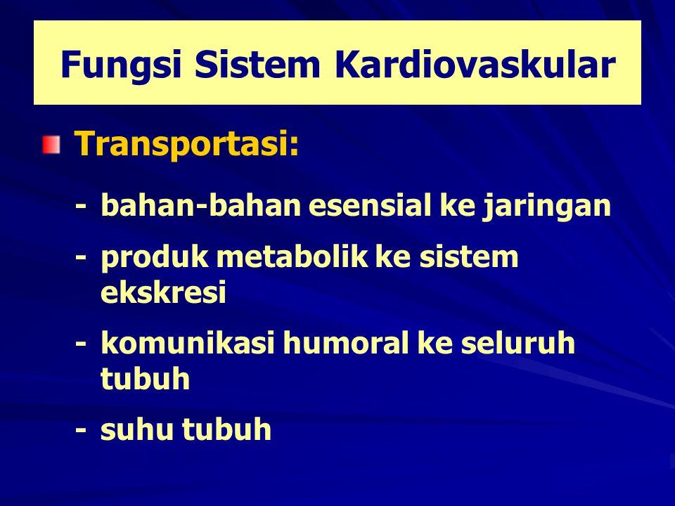 Fungsi Sistem Kardiovaskular