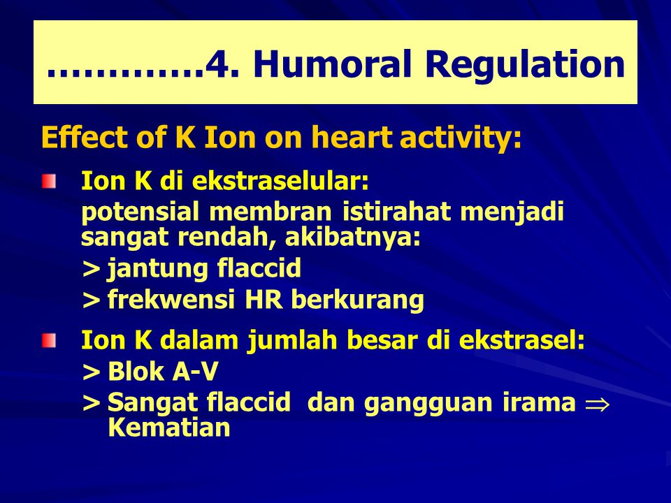………….4. Humoral Regulation
