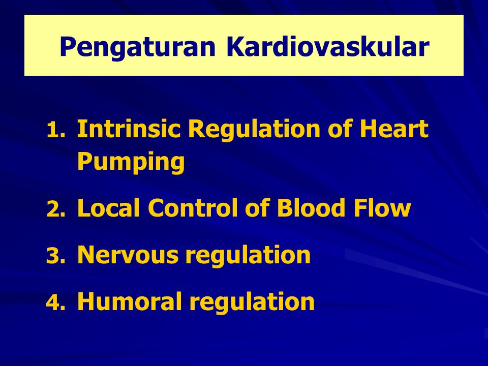 Pengaturan Kardiovaskular