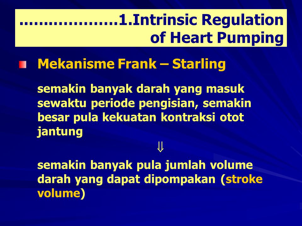 ..…..………….1.Intrinsic Regulation of Heart Pumping