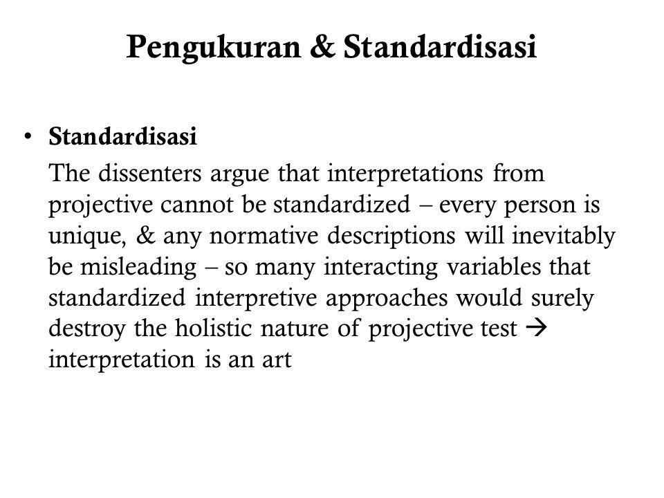 Pengukuran & Standardisasi