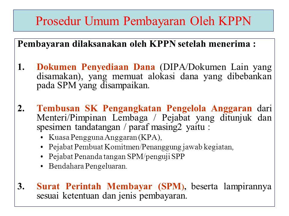 Prosedur Umum Pembayaran Oleh KPPN