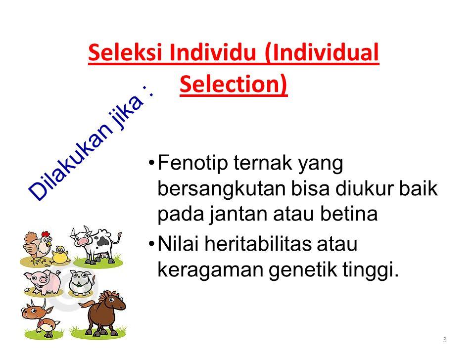 Seleksi Individu (Individual Selection)