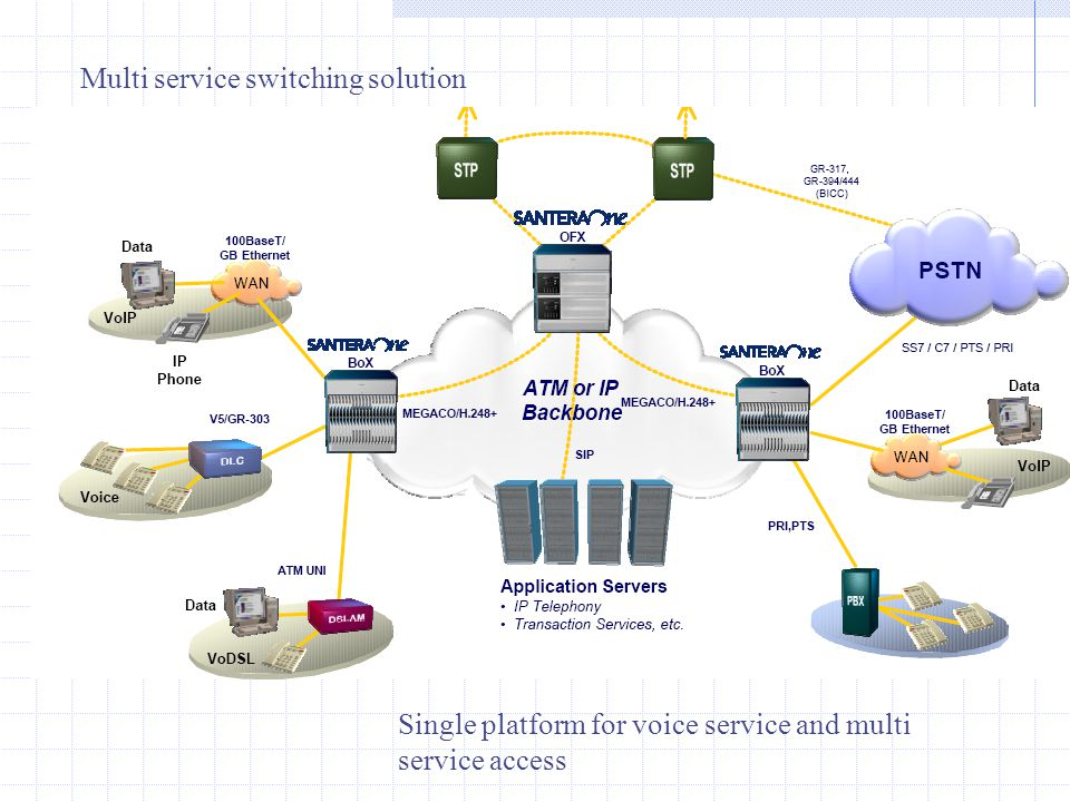 Multi service switching solution