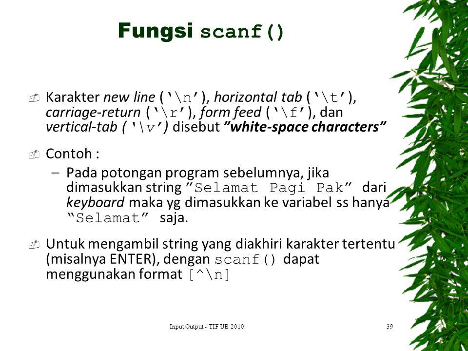 Fungsi scanf()