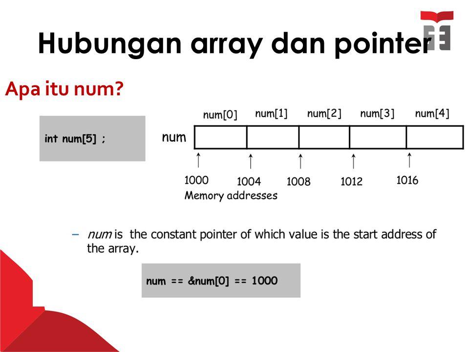 Hubungan array dan pointer