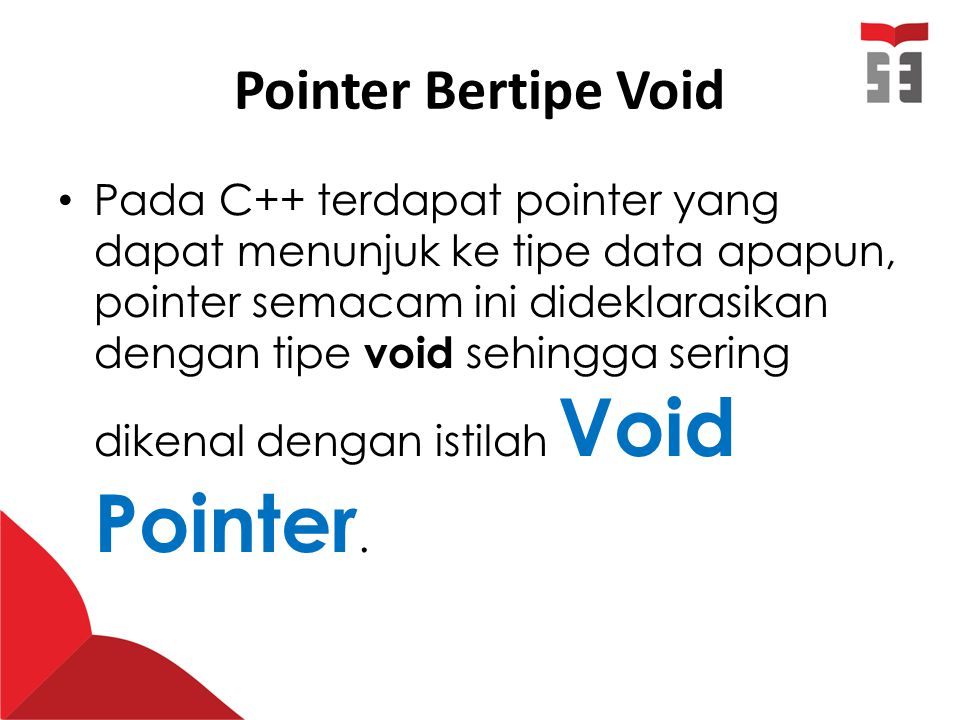 Pointer Bertipe Void