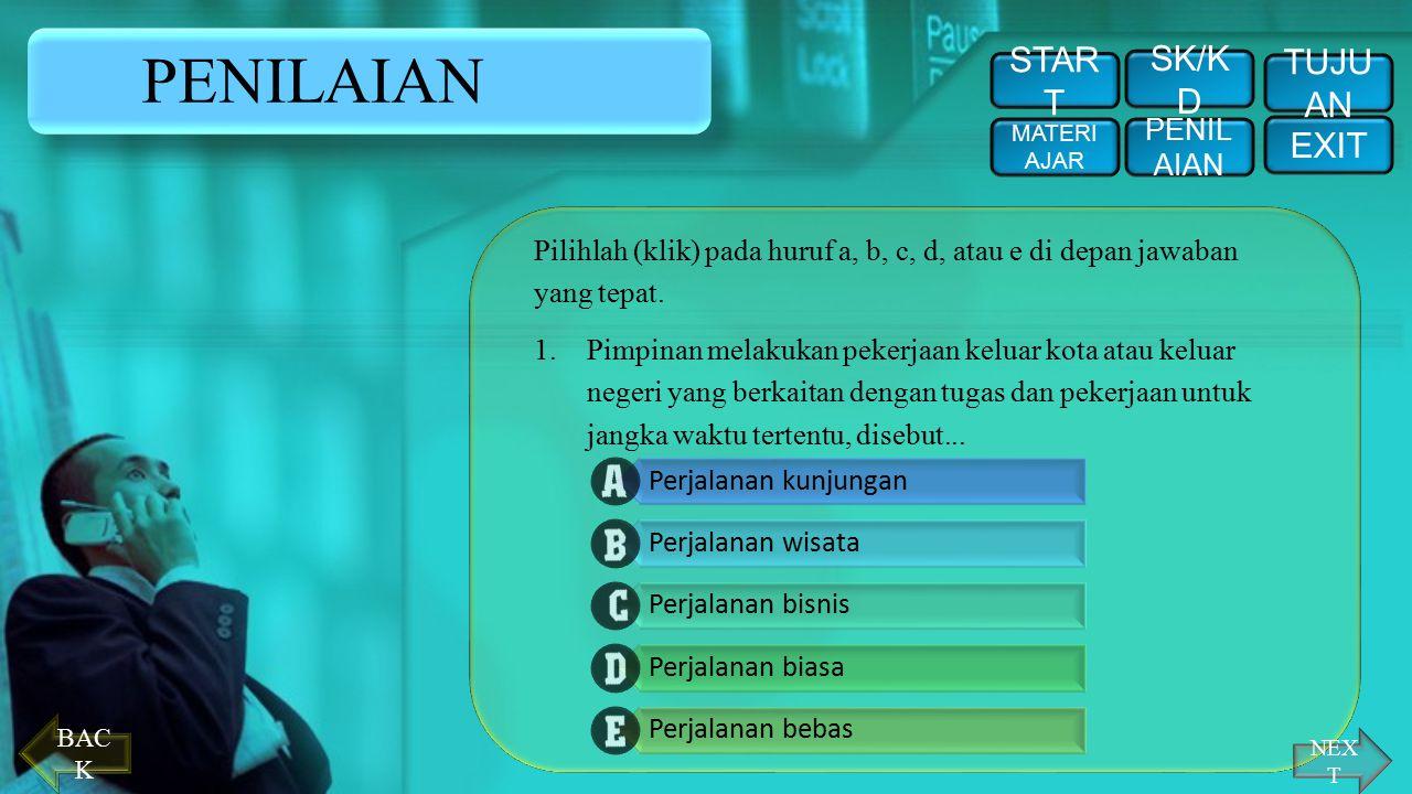 PENILAIAN START SK/KD TUJUAN EXIT PENILAIAN
