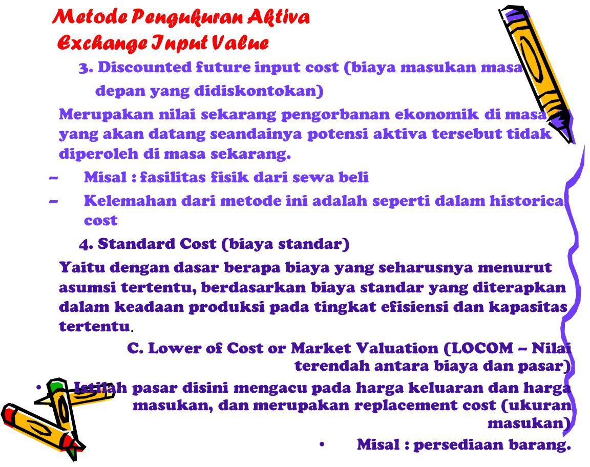 Metode Pengukuran Aktiva Exchange Input Value