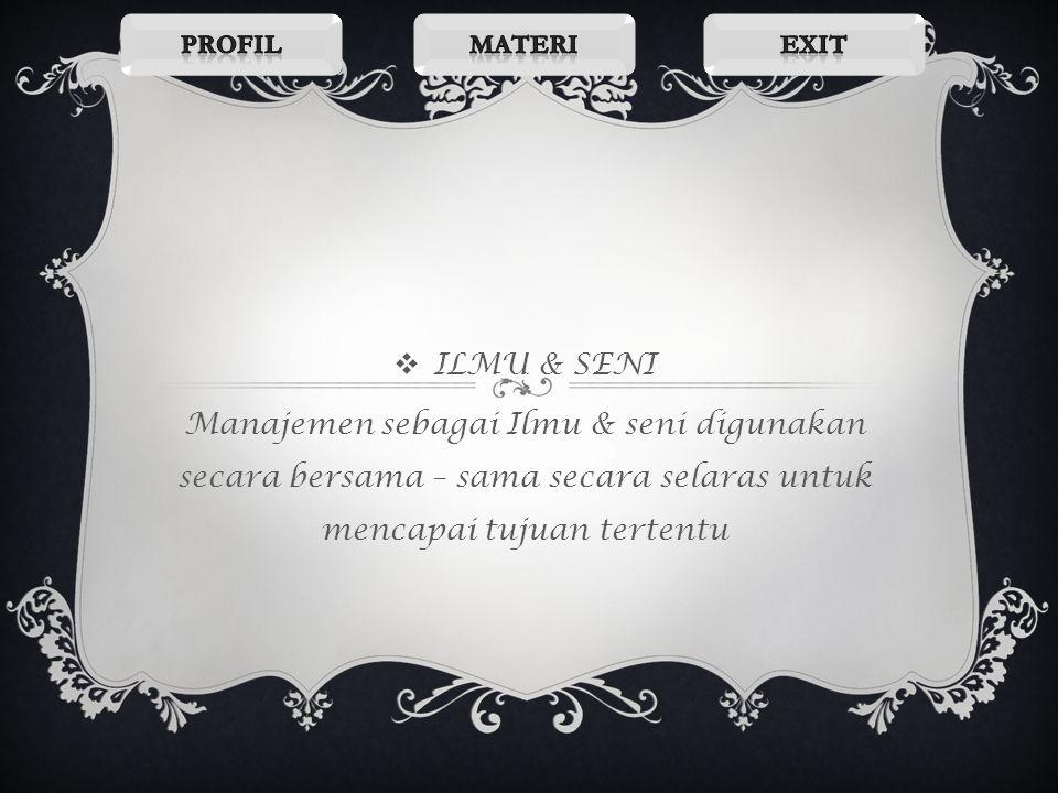 Profil Materi. Exit. ILMU & SENI.
