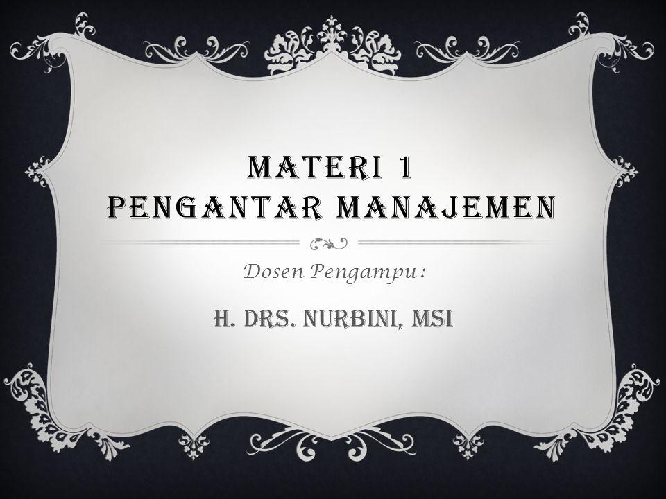 MATERI 1 Pengantar manajemen