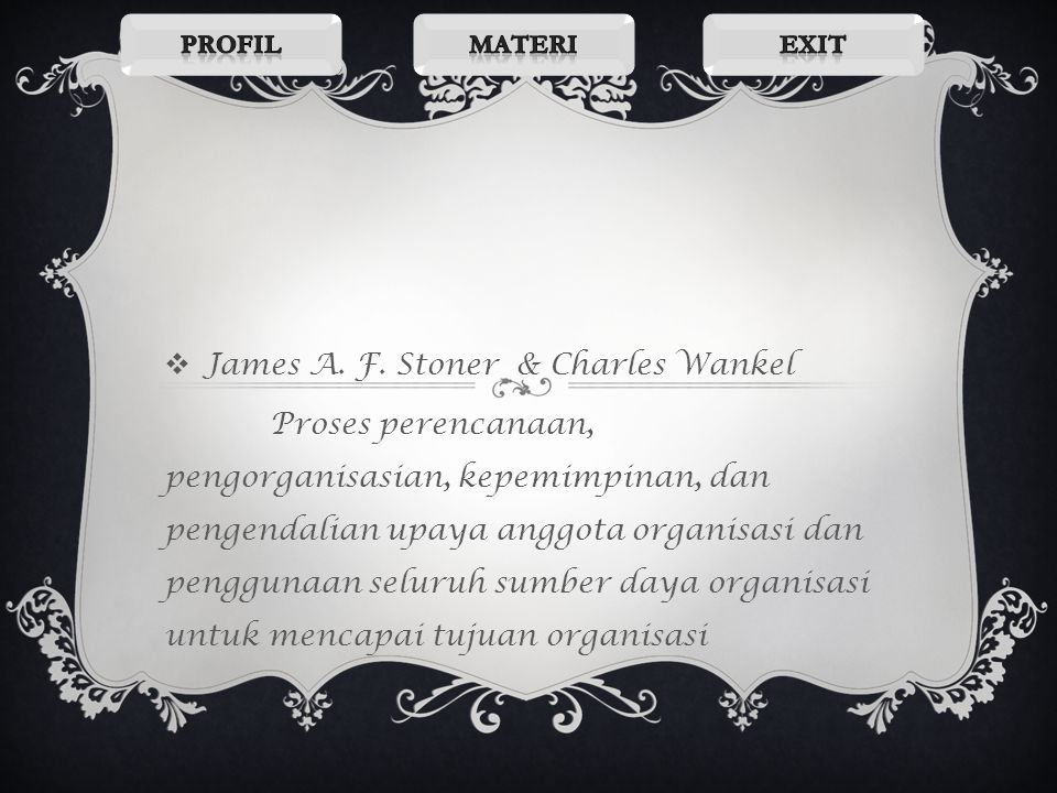 James A. F. Stoner & Charles Wankel
