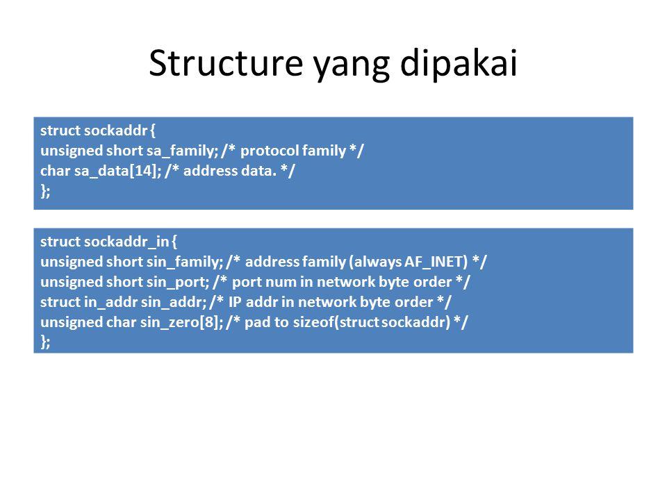 Structure yang dipakai