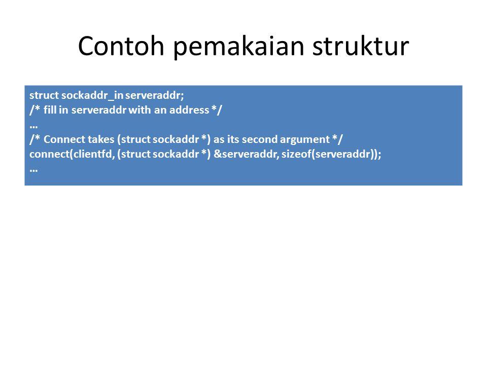 Contoh pemakaian struktur