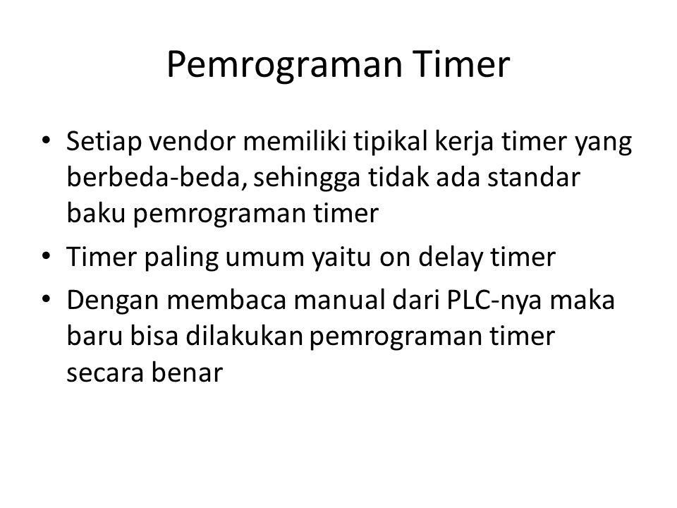 Pemrograman Timer Setiap vendor memiliki tipikal kerja timer yang berbeda-beda, sehingga tidak ada standar baku pemrograman timer.