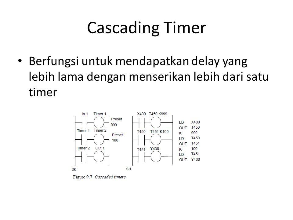 Cascading Timer Berfungsi untuk mendapatkan delay yang lebih lama dengan menserikan lebih dari satu timer.