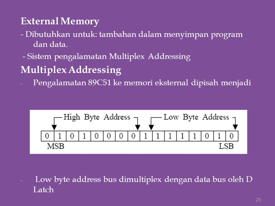 External Memory Multiplex Addressing