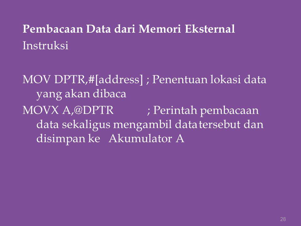 Pembacaan Data dari Memori Eksternal