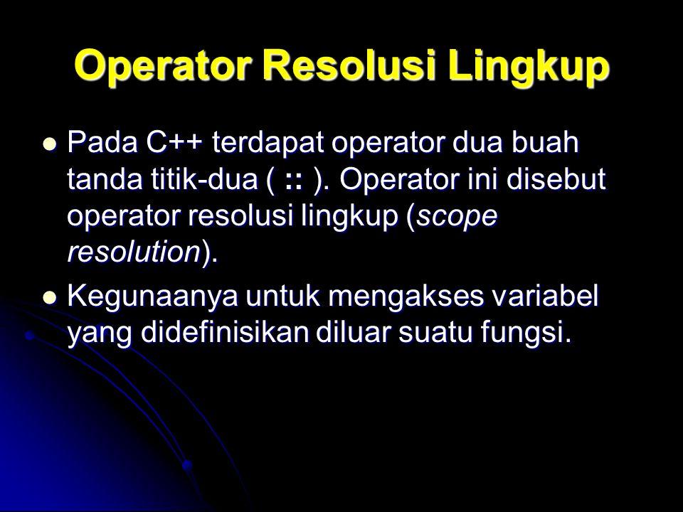 Operator Resolusi Lingkup