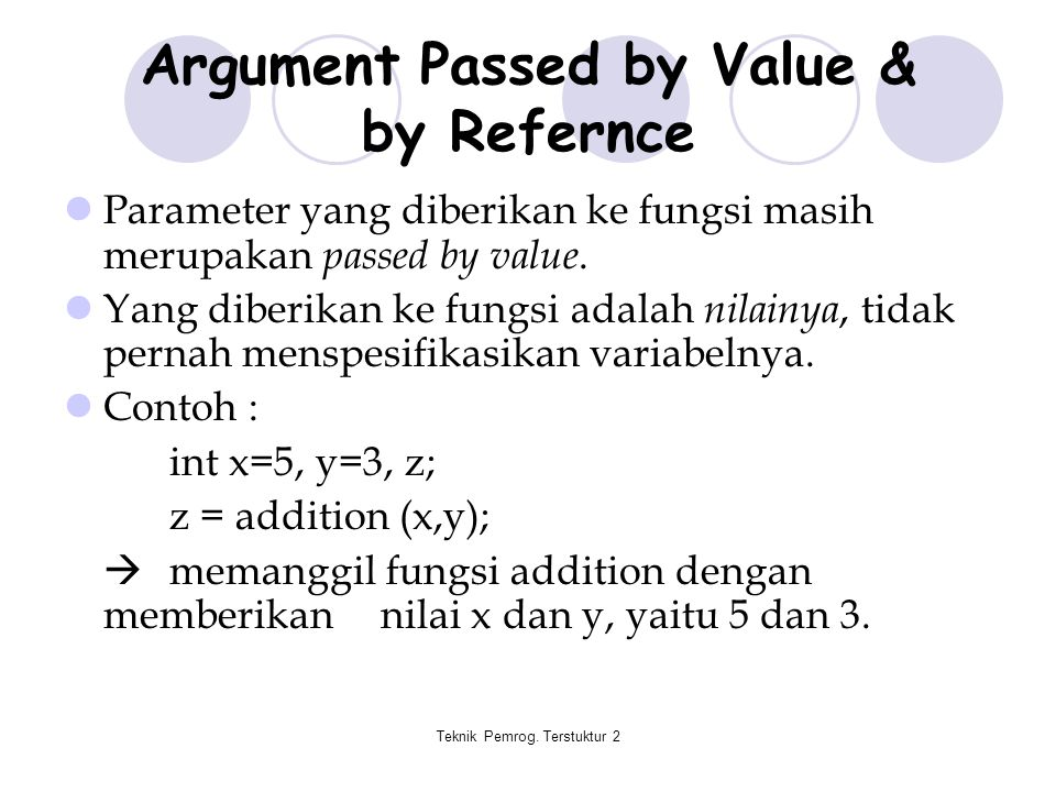 Argument Passed by Value & by Refernce
