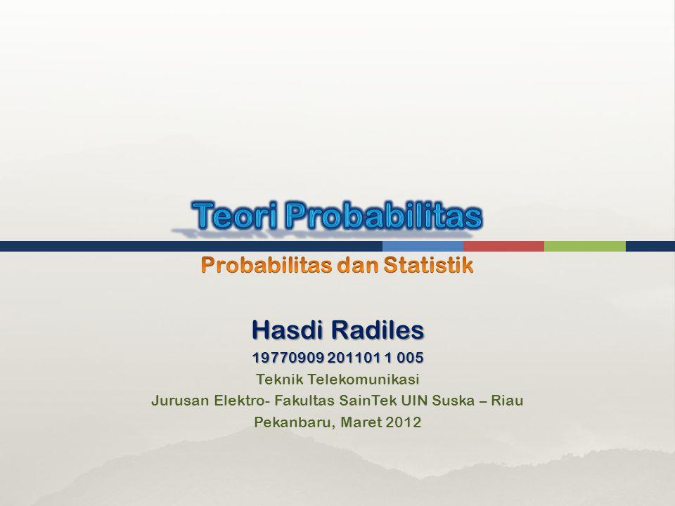 Probabilitas dan Statistik