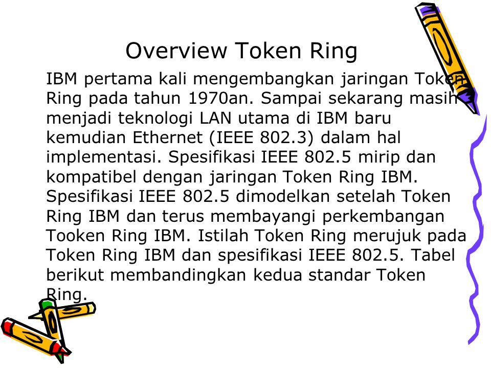 Overview Token Ring