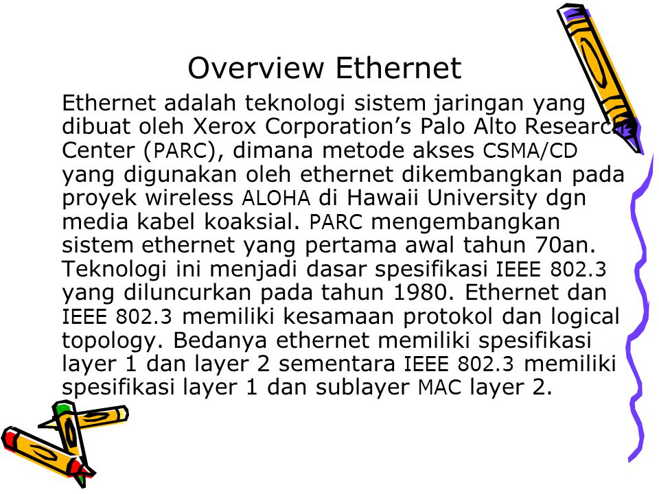 Overview Ethernet