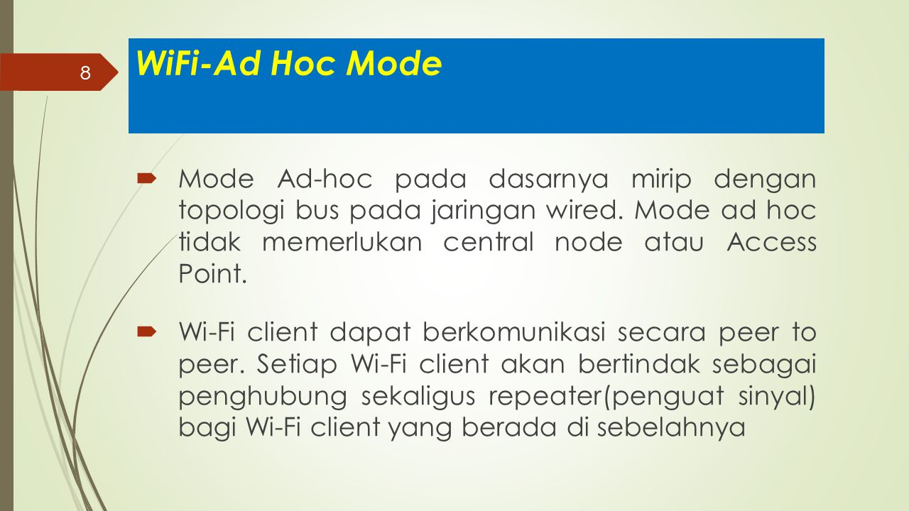 WiFi-Ad Hoc Mode