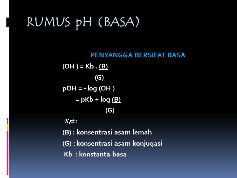 RUMUS pH (BASA)
