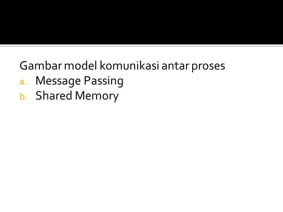 Gambar model komunikasi antar proses