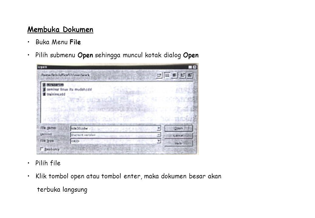 Buka Menu File Pilih submenu Open sehingga muncul kotak dialog Open
