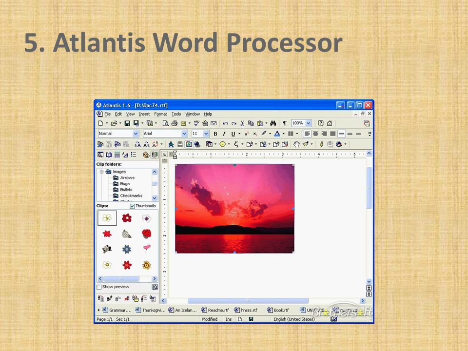 5. Atlantis Word Processor