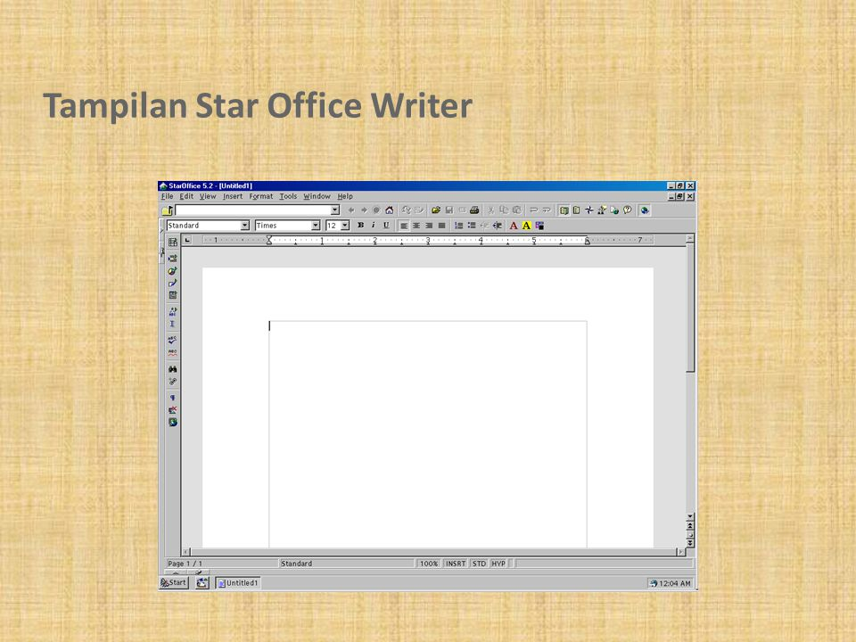 Tampilan Star Office Writer