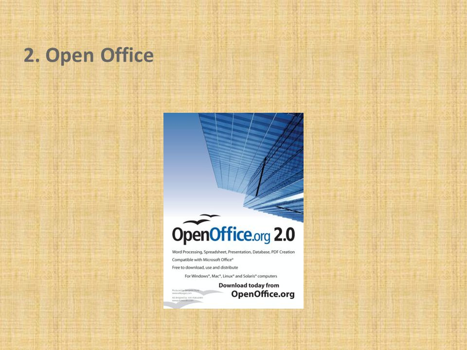 2. Open Office